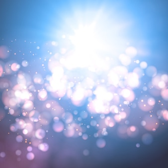 Blurred bokeh glow background