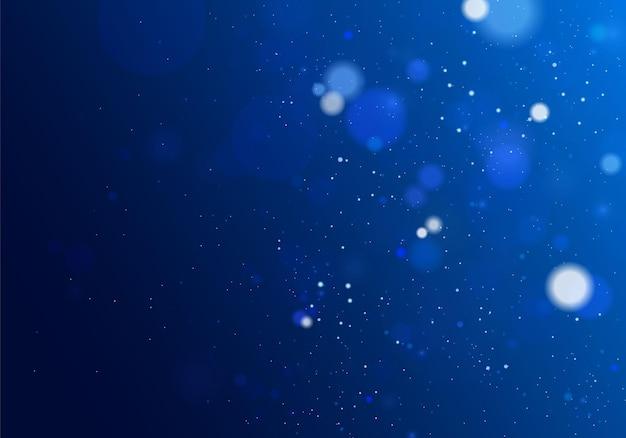 ぼけボケ光。抽象的なキラキラは、点滅する星と火花の焦点をぼかしました。