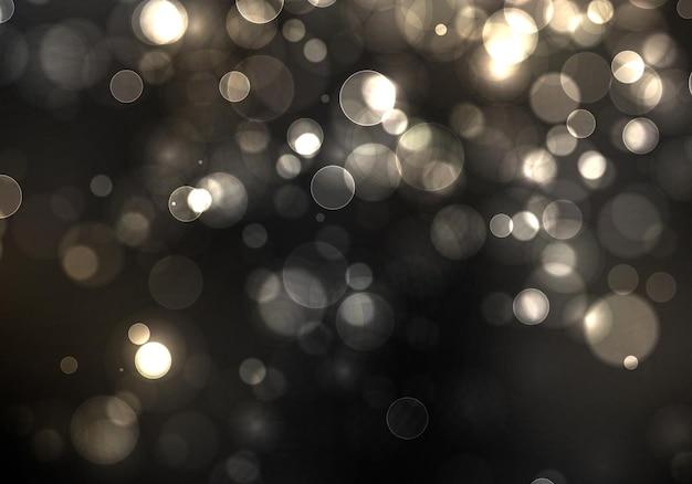 Размытый свет боке рождественские и новогодние праздники серебряный блеск расфокусированные мигающие звезды искры