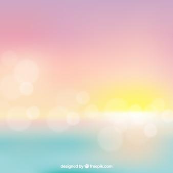 Blurred bokeh sunset background