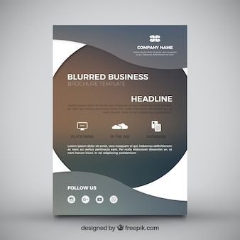 Blurred business flyer with wavy forms