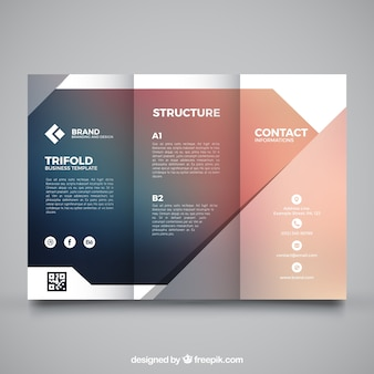 Blurred business trifold template