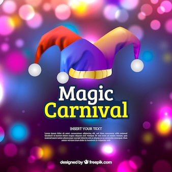 Blurred carnival background