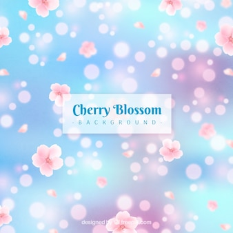 Blurred cherry blossom background