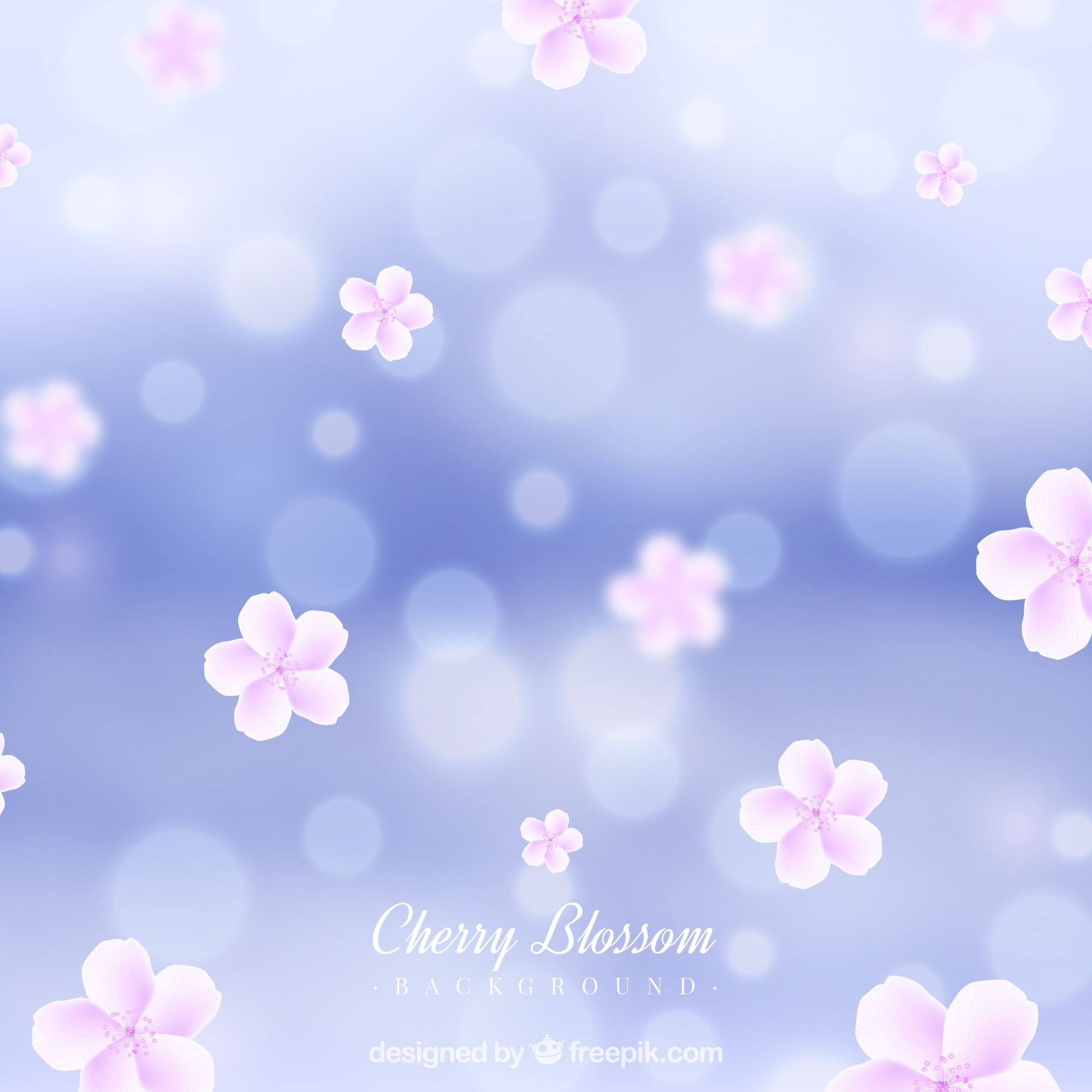 Blurred cherry blossom background