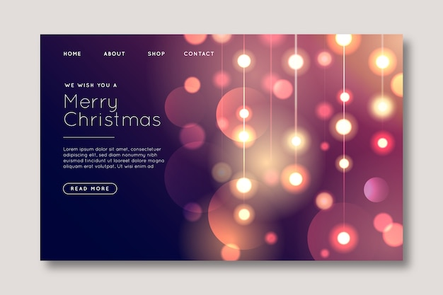 Blurred christmas landing page