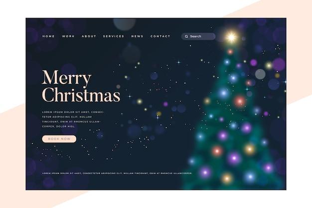 Blurred christmas landing page