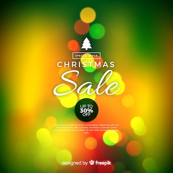 Blurred christmas sale background