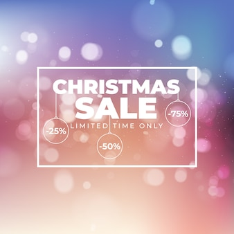 Blurred christmas sale banner