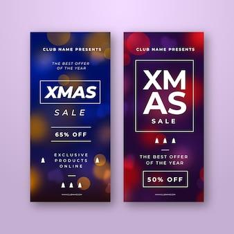 흐리게 크리스마스 판매 배너 서식 파일