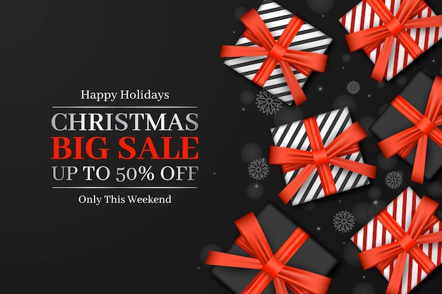 Blurred christmas sale concept
