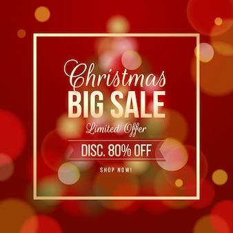 Blurred christmas sale offer