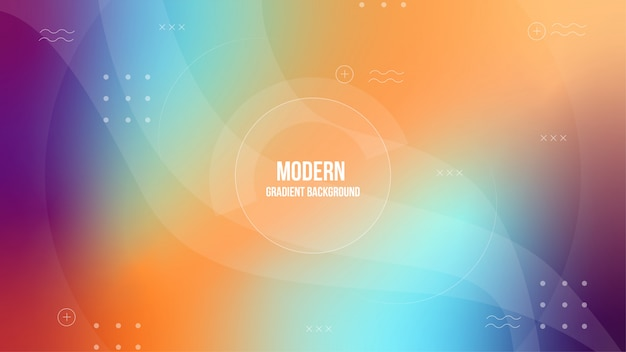 Blurred colorful gradient background