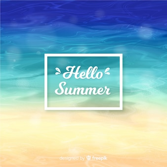 Blurred colorful hello summer background