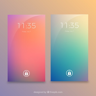 Blurred colors wallpapers for mobile