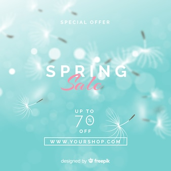 Blurred dandeiion spring sale background