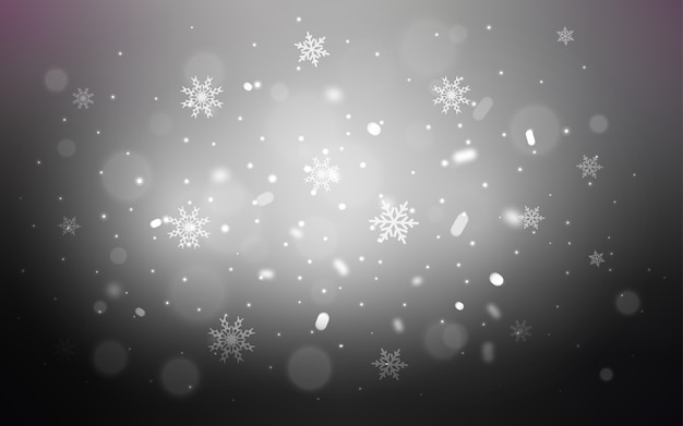 Blurred decorative design in xmas style with snow