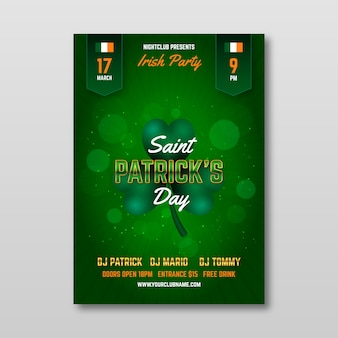 Blurred design st. patrick's day poster