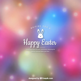 Blurred easter background