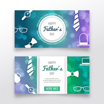 Blurred fathers day banners template