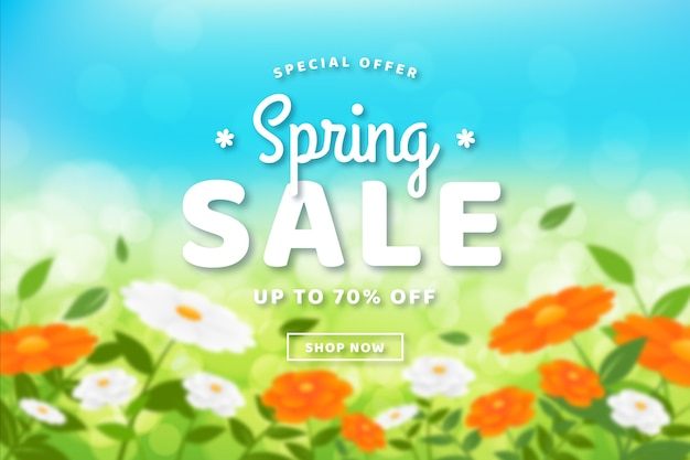 Blurred floral spring sale