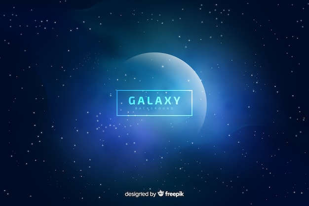 Blurred galaxy background