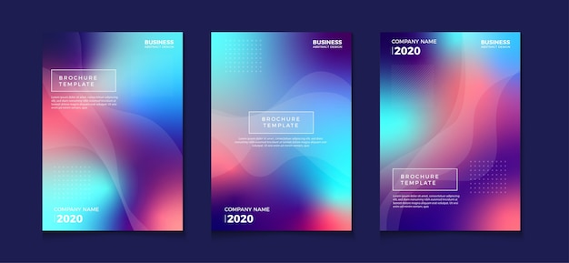 Blurred gradient abstract book cover flyer designs
