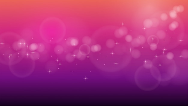 Blurred gradient background with bokeh