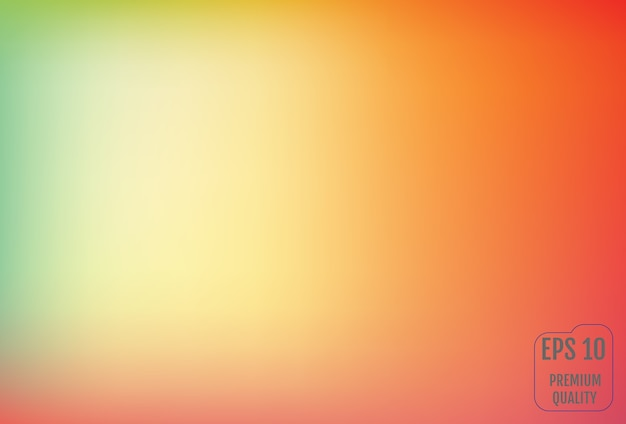 Blurred gradient mesh background in bright colors