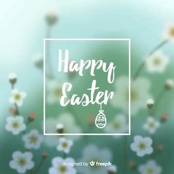 Blurred happy easter day background