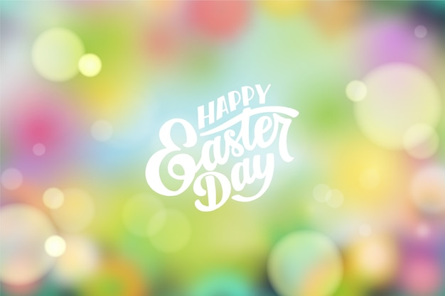 Blurred happy easter day design