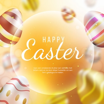 Blurred happy easter day wallpaper