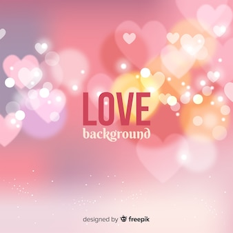 Blurred hearts love background