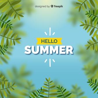 Blurred hello summer background