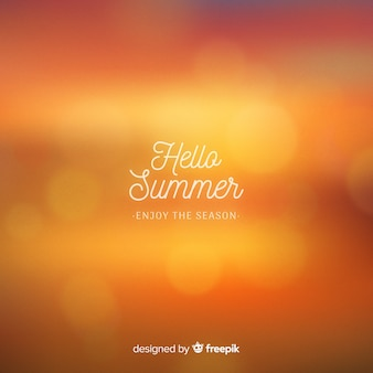 Blurred hello summer background