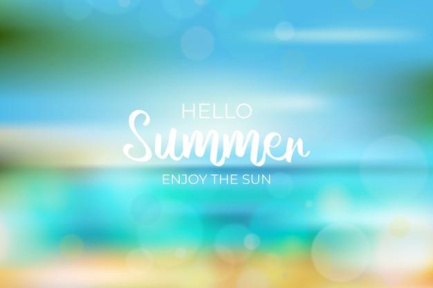 Sfondo sfocato ciao estate