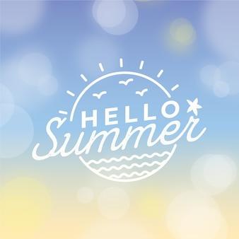 Blurred hello summer concept