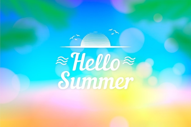 Затуманенное привет лето концепция