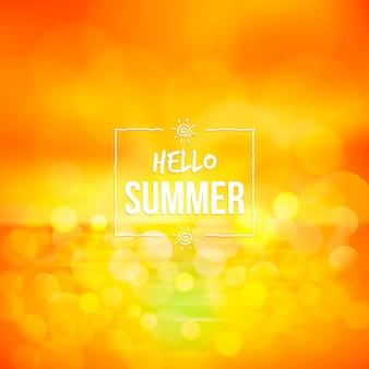 Ciao offuscata estate sole d'oro