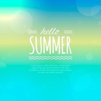 Blurred hello summer wallpaper
