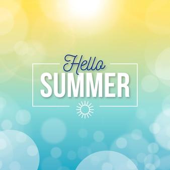Blurred hello summer