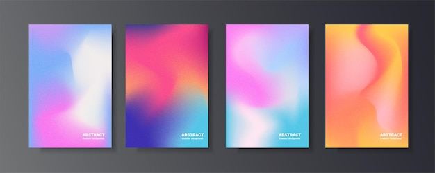 Blurred holographic gradient set