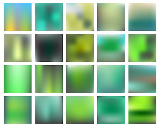 Blurred landscape collection