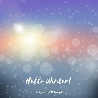 Blurred light winter background