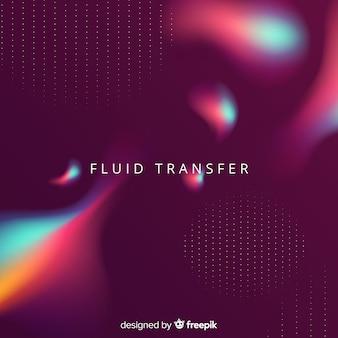 Blurred liquid shapes background