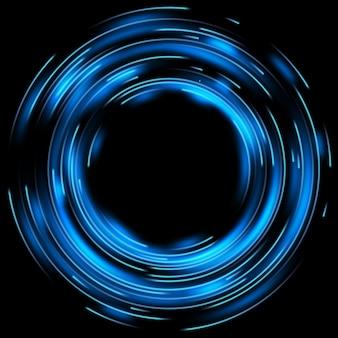 Blurred magic neon light.