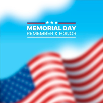 Concetto offuscata di memorial day