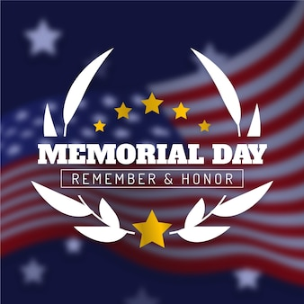 Memorial day offuscata con stelle dorate