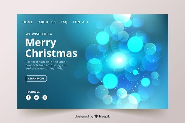 ぼやけたメリークリスマスのランディングページ