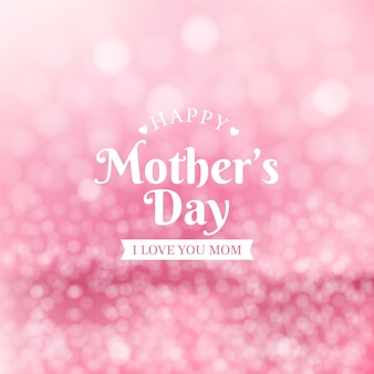 Blurred mother's day concept